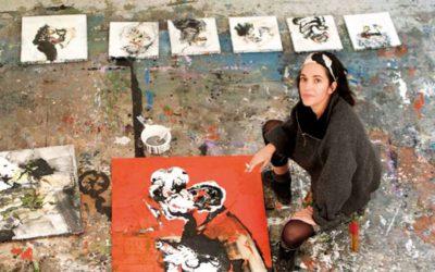 Signature du livre d'Emmanuelle Renard à la galerie Polad-Hardouin (Paris)