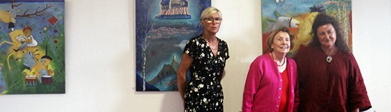 Exposition Danielle Le Bricquir et Claudine Loquen à la galerie du Trait d'union (Saint-Julien)